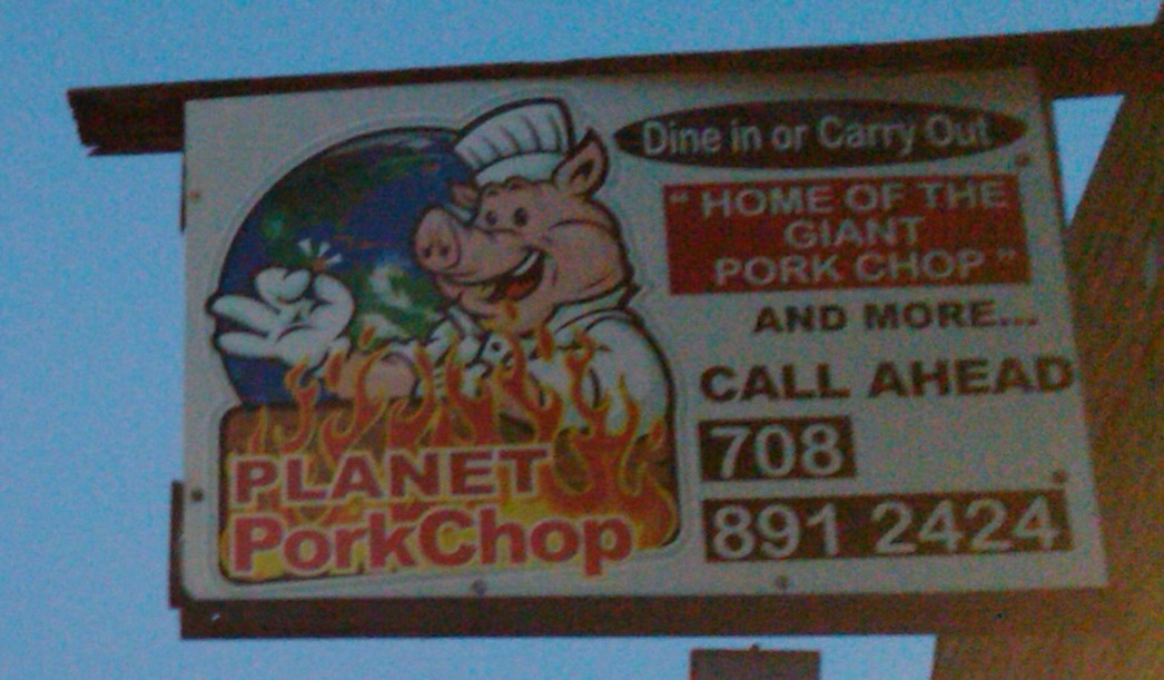 Planet Porkchop Sign - Calumet City